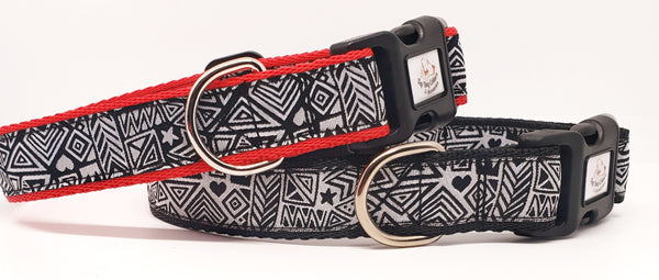 Picasso Black & White Dog Collars & Leads