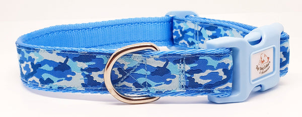 Blue Camo Dog Collars & Leads
