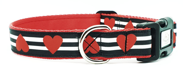 Red Hearts dog collar/Lead