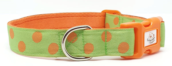 Orange spots on Green Dog Collars