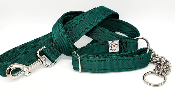 Forrest Green Plain Webbing Collars & Leads