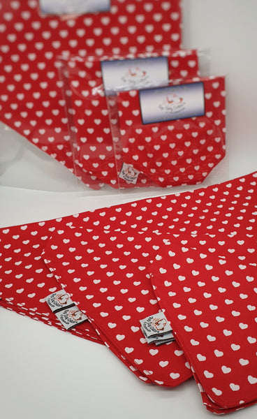 Love hearts Dog Bandanas