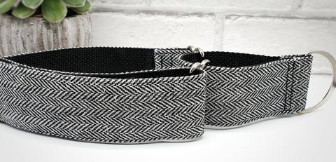 "Black Herringbone 2"" wide collars"