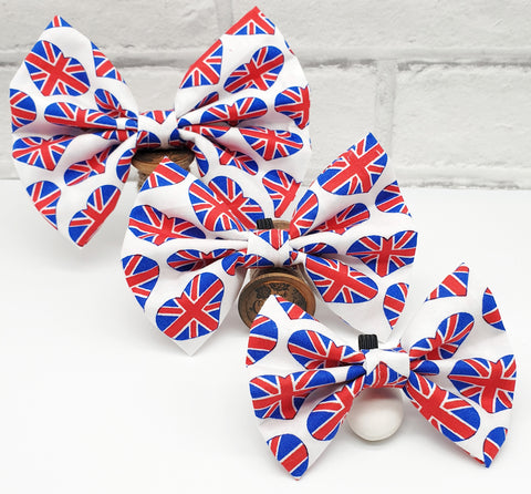 Union Jack Hearts Bow tie