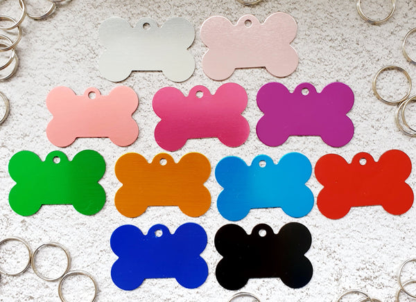 Bone Pet ID Tags Large