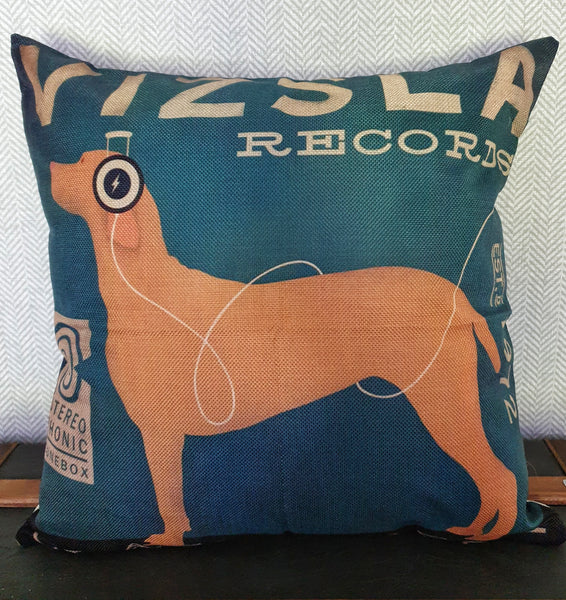Vizsla Records Cushion Cover