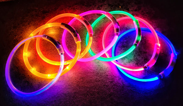 LED light up Recargeable collar bands (Medium / Small)
