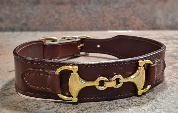 Bridle detail Brass Leather Collars