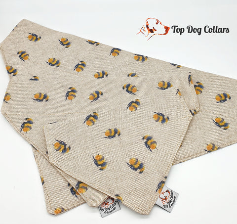 Busy Bee Dog Bandanas