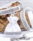 "Wedding Diamante 1"" wide Collars, Leads & ring pouches"