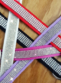 Clear Diamante Collars 25mm wide