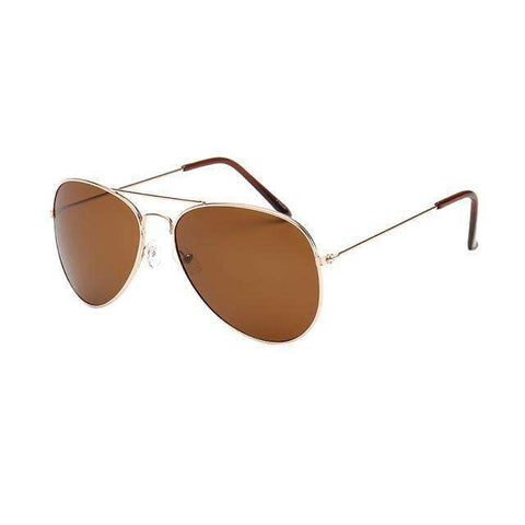 Aviator Polarized Sunglasses Amber Lenses Gold Frame,Gold