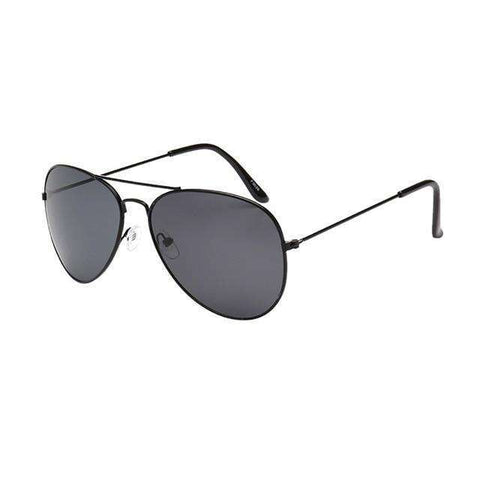 Aviator Polarized Sunglasses Black Lenses Black Frame,Black