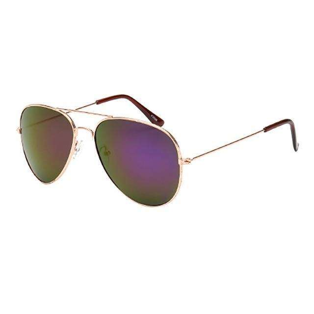 Aviator Polarized Sunglasses Dark Green Lenses Gold Frame,Gold