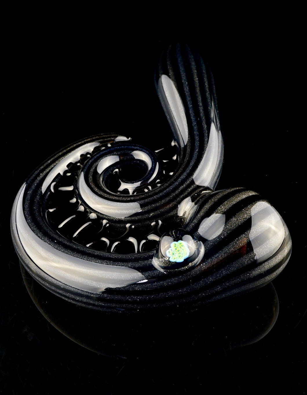 Kevin Murray Black and Grey Webbed Pipe