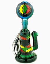 Kevin Murray Rasta Bubbler with Dichro Horns