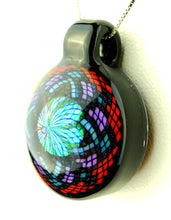 John W Red and Purple Micro Filla Opal Pendant