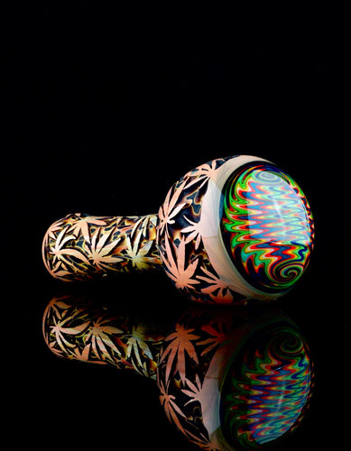 Liberty 503 Marijuana Leaf Deep Carve Wigwag Spoon