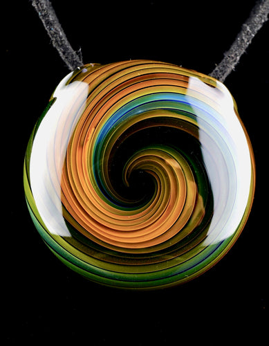 Dizzy Glass Dual-Sided Fume Vortex Pendant - 1
