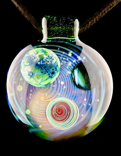 Jolex Small Earth Galaxy Pendant with Haterade Bail