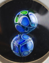 Oddball Glass Fully Worked UV Cobalt Dotstack Terp Pearl Pair