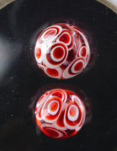 Oddball Glass Fully Worked Dragon's Blood Dotstack Terp Pearl Pair