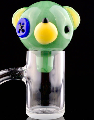 Hendy Mint and Lapis Teddy Head Bubble Cap