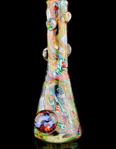 Pee Jay Taylor Rainbow Chaos Tube with Huge Leela Marble
