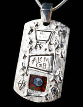 AKM & Ginny Benton Jewelry Milli and Citrine Silver Sterling Dog Tag Pendant