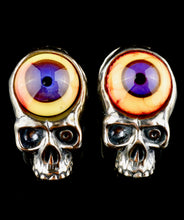 Aquarius Silver Eyeball Skull Pendants