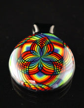 Kai Brown Glass Rainbow Sacred Geo Fillacello Pendant