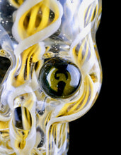 Aquarius & Toronto Flameworking Zanfirico Bird Skull with Wu Tang Eye