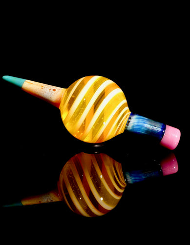 Sherbet Lemondrop Pencil Slurper Marble