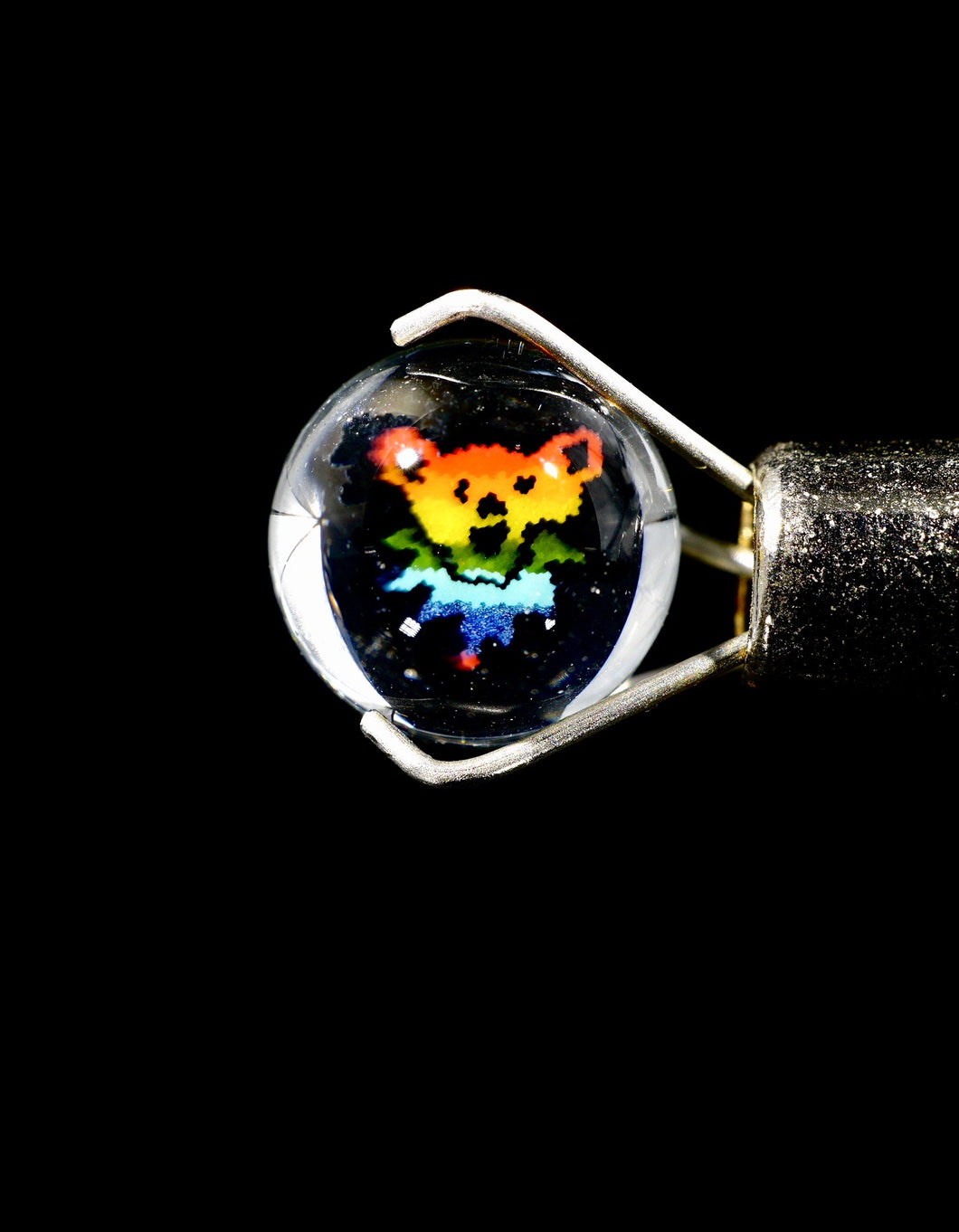 Steve H Rainbow Dancing Bear Terp Pearls (Pair)