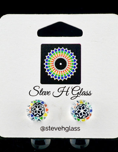 Steve H Rainbow Burst Milli Stud Earrings