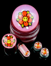 Steve H CFL Pastel Serum Red Happy Flower Slurper Set + Marble Stand
