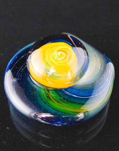 Doom Glass Implosion Galaxy Pendant
