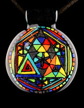 Helraiser Abstract Rainbow Sacred Geo Filla Pendant