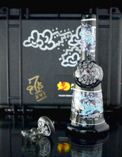 "Seven Red Beards Glass & Oddball Glass ""Stormy Dream"" Banger Hanger + Matching Directional Cap"