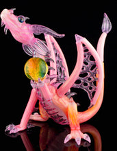 Scoz & Doc Gold Fume Scaled Dragon + Removable Dabber
