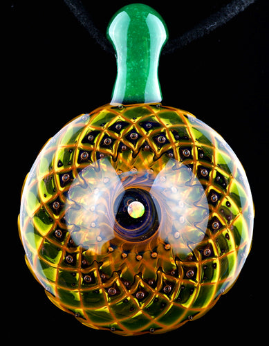 Bashaw Fumicello Bubble Trap Pendant with Moss Bail