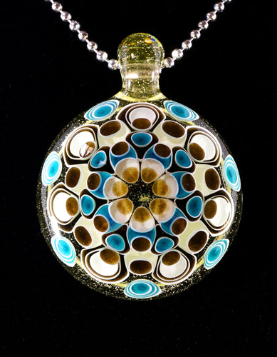 JuJu Glass UV Yellow Nova & Aqua Azul Dotstack Pendant
