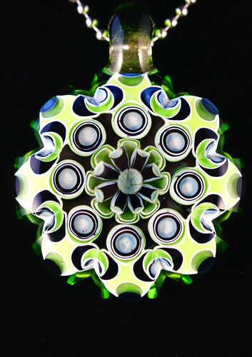 JuJu Glass UV Nova & Antidote Stacked & Cut Pendant