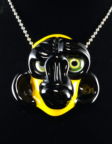 Coyle Eclipse & Banana Monkey Pendant with Mismatched Milli Eyes