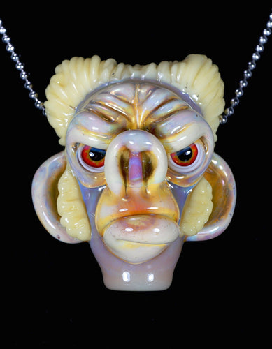 Coyle Silver Strike Monkey with a Hairdo Pendant