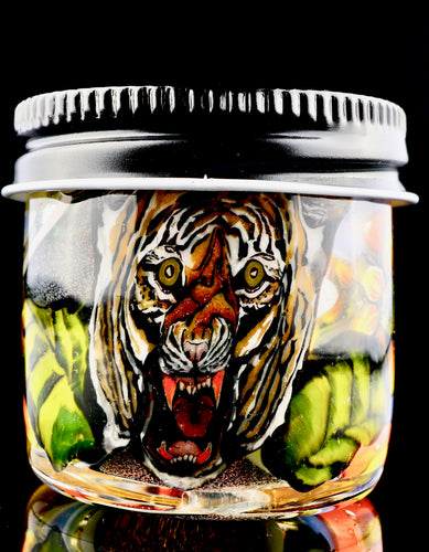 Stephen Boehme Tiger and Sunflower UV Dichro Jar - 24