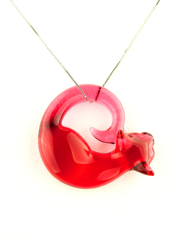 Spiller Woods Gold Ruby Mini Kitty Pendant