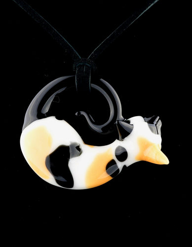 Spiller Woods Calico Kitty Pendant