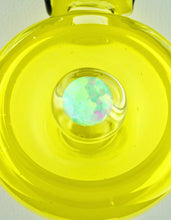 ID Glass Ghost Chartreuse Troika Pendant with Opal