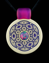 Glassmaze Seed of Life Mandala Pendant with 10mm Australian Opal